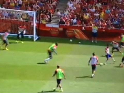 Arsenal pair Yaya Sanogo and Alexis Sanchez are new SAS with this devastating display