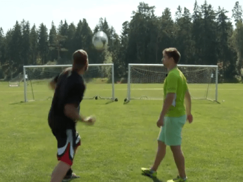 Boxer potentially sets obscure world record for punching a football