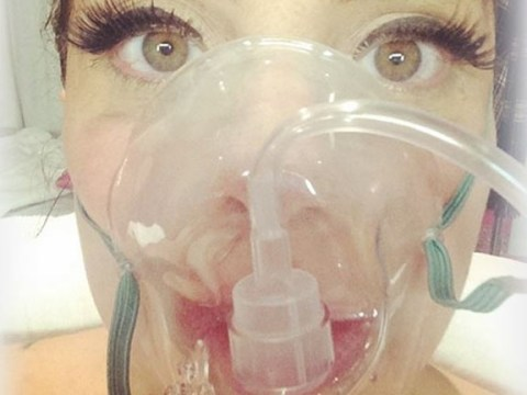 Lady Gaga posts bizarre hospital selfie as she's taken ill on tour