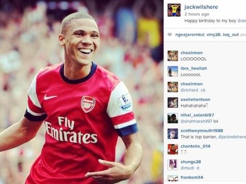 Jack Wilshere mocks birthday boy Alex Oxlade-Chamberlain over Kieran Gibbs red card mix-up