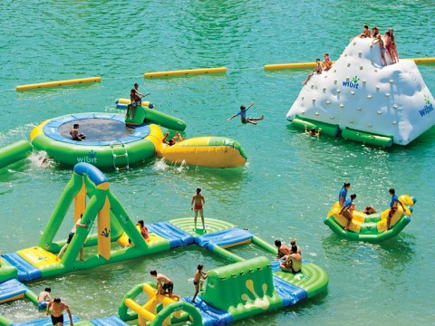 This inflatable water playground will make you want to leave work and run off to the beach immediately