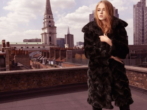Game Of Thrones star Sophie Turner is revealed as the girl in Karen Millen's autumn/winter 2014 campaign