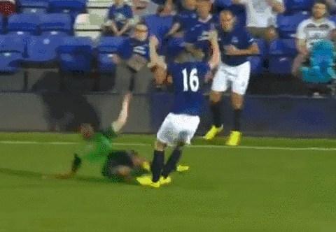 Everton's James McCarthy on receving end of horror tackle in Celta Vigo friendly