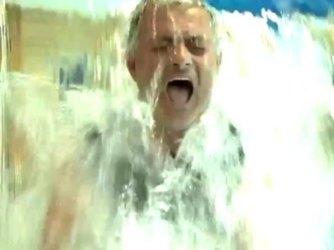 Chelsea manager Jose Mourinho becomes 'The Soaken One' as he takes ice bucket challenge