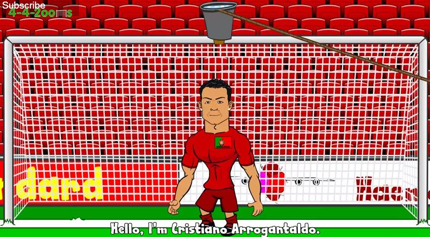 Cristiano Ronaldo, Lionel Messi, Luis Suarez, Pepe and Thomas Muller undergo ice bucket challenge – in comical cartoon satire