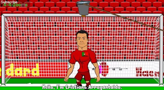 Cristiano Ronaldo insists on doing the ice bucket challenge topless (Picture: 44Toons)