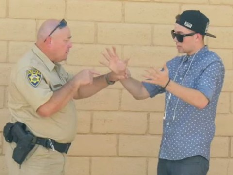 Something bong, officer? Magician annoys cop by offering him weed