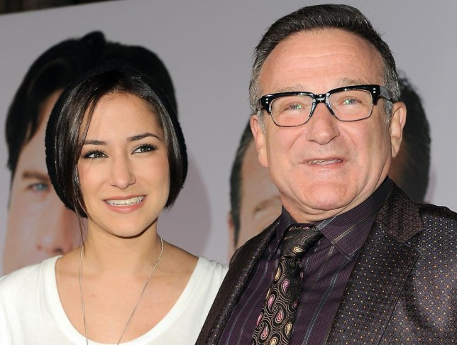 "Zelda Williams, left, with her father Robin Williams at the premiere of ""Old Dogs,"" in Los Angeles.  (AP Photo/Katy Winn, File) AP Photo/Katy Winn, File"