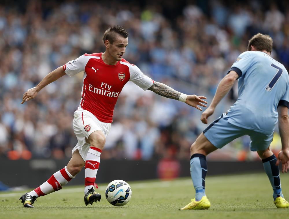Mathieu Debuchy set for two months out, set to miss Arsenal derbies against Tottenham and Chelsea clash