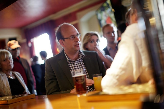 Mark Reckless wanted a quiet pint in his Rochester constituency to launch his by-election campaign, but faced anger from local Tories who felt 'betrayed and deceived' (Picture: Getty)