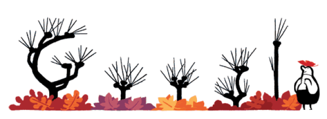 Google have comemmorated the start of autumn with this handy Doodle (Picture: Google)
