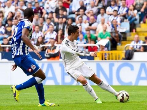 Cristiano Ronaldo's stunning backwards header starts hat-trick as Real Madrid demolish Deportivo 8-2