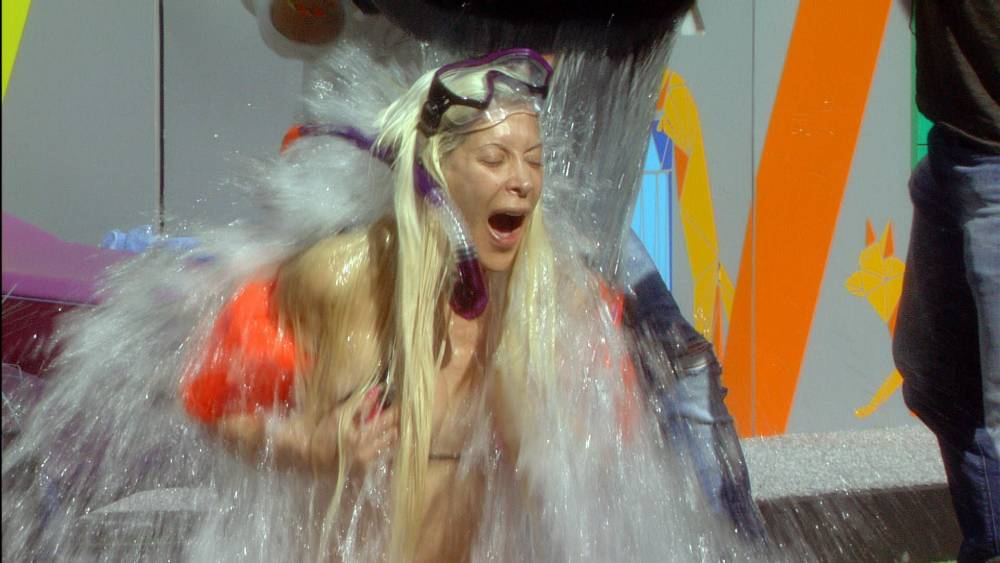 Pictures: Frenchy does ALS ice bucket challenge in the Celebrity Big Brother house