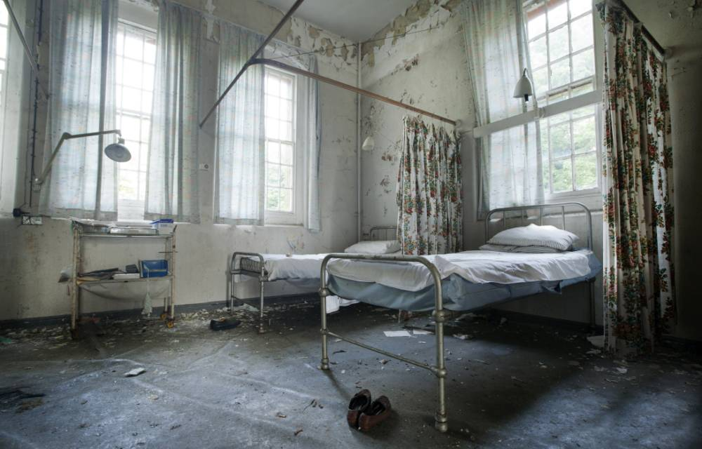 A ward at Surrey County Lunatic Asylum at Cane Hill Hospital (Picture: Mark Davies/Guzilian)