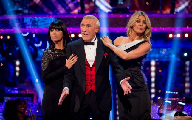 WARNING: Embargoed for publication until: 07/09/2014 - Programme Name: Strictly Come Dancing  - TX: 07/09/2014 - Episode: Launch Show (No. n/a) - Picture Shows: **EMBARGOED FOR PUBLICATION UNTIL 00:01 HRS ON SUNDAY 7TH SEPTEMBER 2014** Claudia Winkleman, Sir Bruce Forsyth, Tess Daly - (C) BBC  - Photographer: Guy Levy