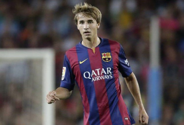 Sergi Samper of FC Barcelona during the Joan Gamper Trophy match between FC Barcelona and Leon F.C. at Camp Nou on august 18, 2014 in Barcelona, Spain(Photo by VI Images via Getty Images)