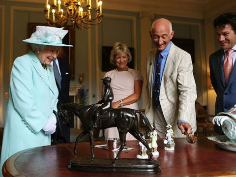 The Queen makes a surprise appearance on the Antiques Roadshow to discuss family knickknacks