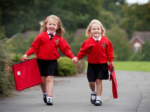 Aunt Daisy takes niece Ruby to school – but which one's which?