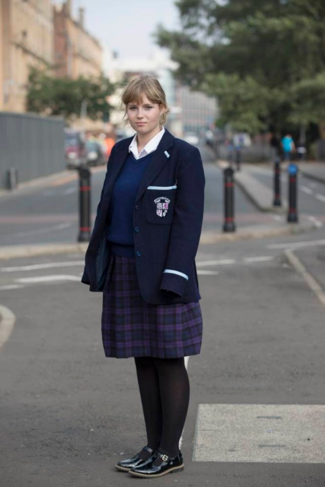 Scottish Referendum Polling Station - Glasgow - Gaelic School- City Centre WestnnPic- Perdy Biddlecombe 16, Votes for the first time ever - she voted against an independent Scotland.