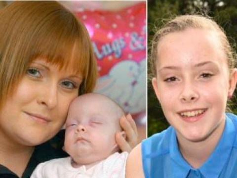 Girl 'aborted' to save her mother's life celebrates 10th birthday