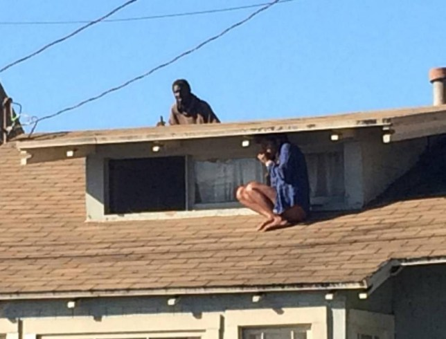 Sleeping in safety of home. Transient that was FI'd already today enters home, follows petrified victim to roof.