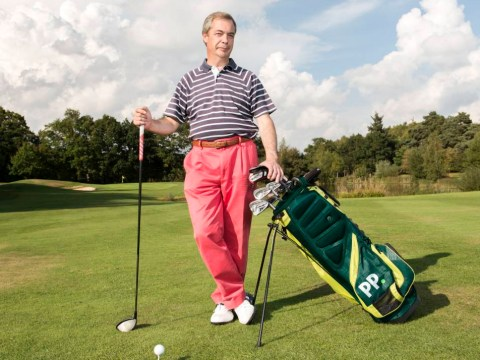 Farage comes out swinging for Europe (in golfing advert)