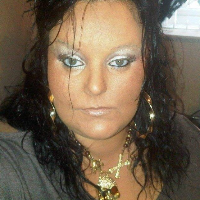 Lindsey Leslie, 35, A mum who blamed PMT for a violent vampire-style attack - after biting another woman's face in a bar. © WALES NEWS SERVICE