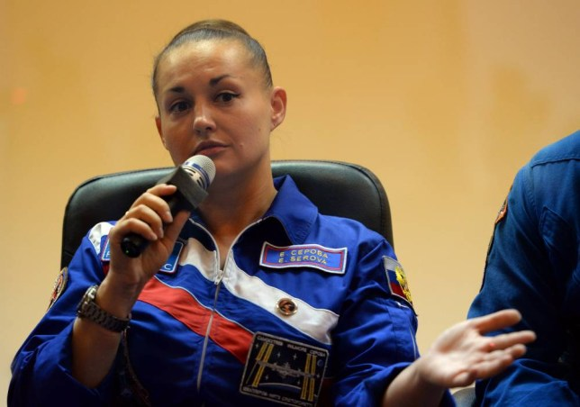 Russia's cosmonaut Yelena Serova attends a press conference at the Russian-leased Baikonur cosmodrome on September 24, 2014. The launch of the Soyuz rocket to the International Space Station (ISS) with US astronaut Barry Wilmore, Russian cosmonauts Alexander Samokutyayev and Yelena Serova  is scheduled for September 26, 2014. AFP PHOTO / VASILY MAXIMOV        (Photo credit should read VASILY MAXIMOV/AFP/Getty Images)