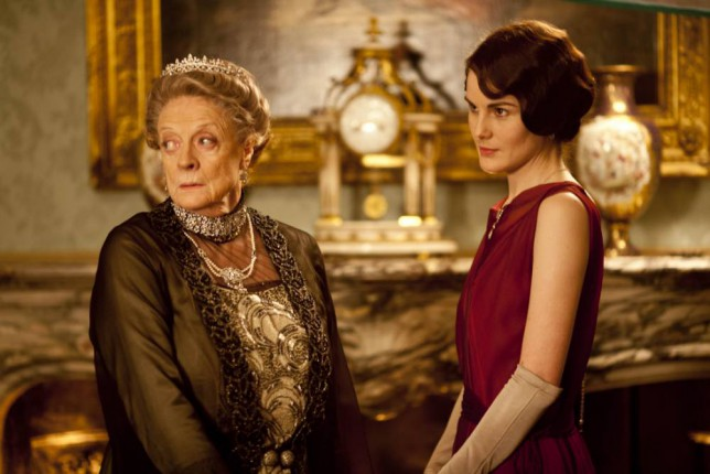 Television programme : Downton abbey. .  ITV1 Drama, Downtown Abbey Series 3. Episode 2 Maggie Smith as Dowager Countess of Grantham, Violet, Michelle Dockery as Lady Mary The third series, set in 1920, sees the return of all the much loved characters in the sumptuous setting of Downtown Abbey. As they face new challenges, the Crawley Family and the Servants who work for them remain inseparably interlinked   Carnival Film & Television Limited   Downton pics for Rachel