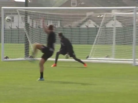 Fabio Borini scores sensational top-corner screamer during Liverpool training session