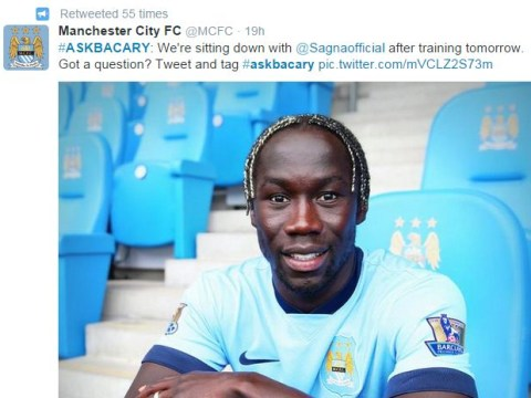 Bacary Sagna put up for Manchester City Twitter Q&A, Arsenal fans rain down with abuse