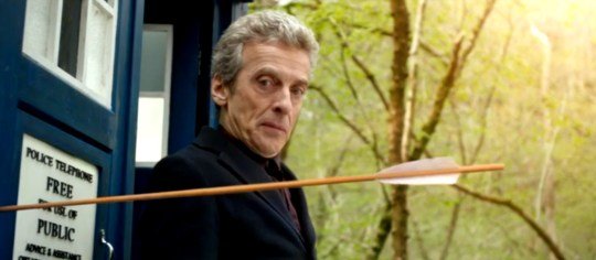 Peter Capaldi's Time Lord meets Robin Hood (Picture: BBC)