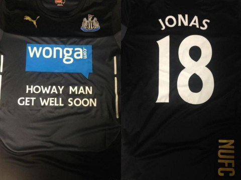Newcastle players and supporters pay touching tribute to Jonas Gutierrez after revealing cancer battle