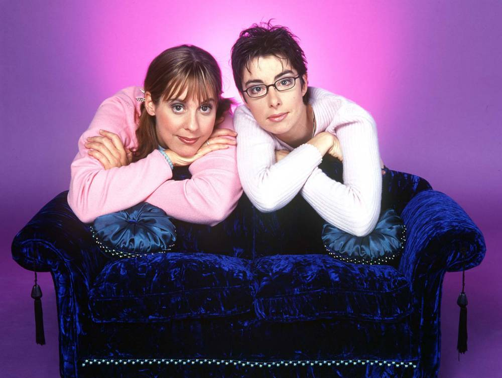 Great British Bake Off 2014 hosts Mel Giedroyc and Sue Perkins