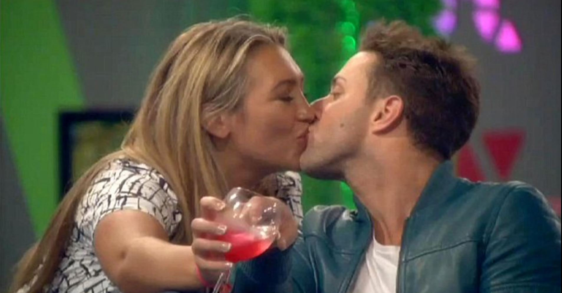 Celebrity Big Brother 2014: The moment Lauren Goodger and Ricci Guarnaccio kiss (again)