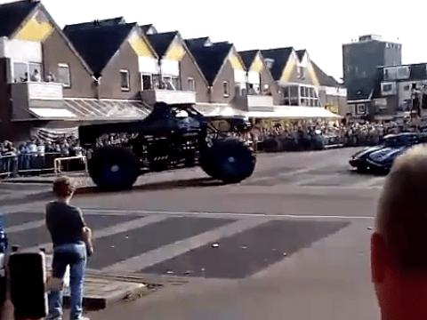 Monster truck crash kills three spectators including a child after crashing through barrier