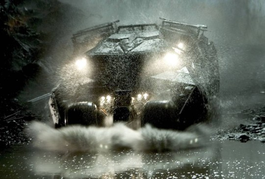 "Film, 'Batman Begins', (2005) Undated handout picture shows the 'Batmobile' driven by character Batman in a scene from  Warner Bros. Pictures' action adventure film ""Batman Begins"" starring Christian Bale and Katie Holmes. The film opens in the United States June 15 2005. NO SALES  REUTERS/David James/Warner Bros./Handout"