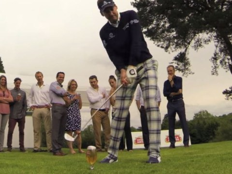 Ian Poulter celebrates Ryder Cup 2014 call-up by pulling off awesome beer glass trick shot