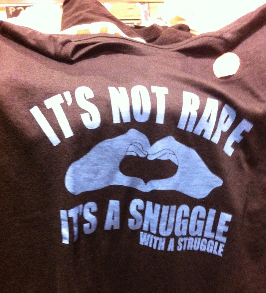 Department store pulls offensive t-shirt that made light of rape