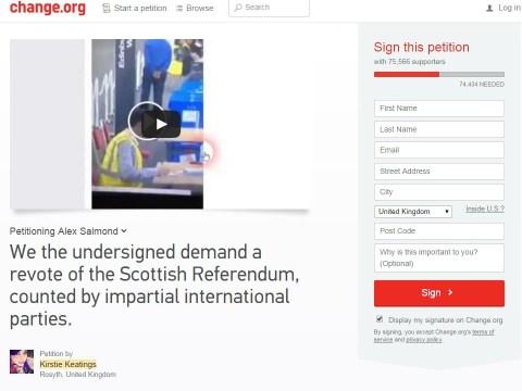 Petition alleging fraud in Scottish independence vote receives 70,000 signatures