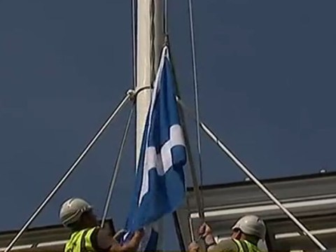 Is the Saltire trying to tell us something? Scottish flag refuses to be flown over Downing Street