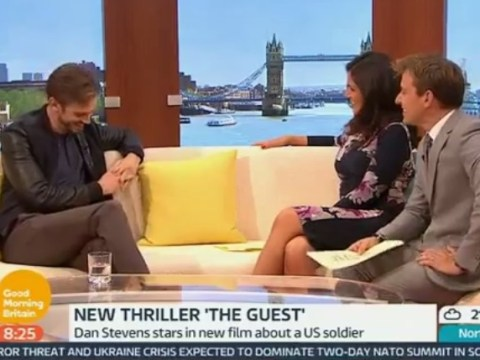 Susanna Reid asked Dan Stevens if he had to beat off men to get his part in The Guest