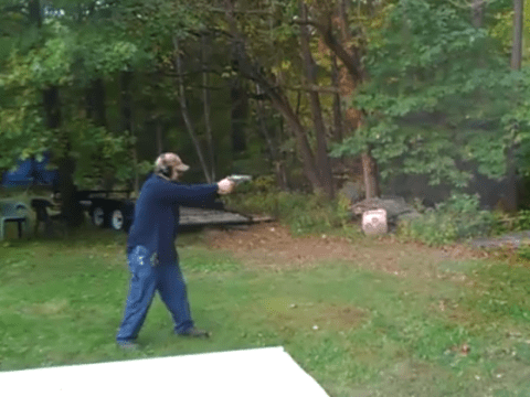 Man shoots at tree, tree fights back