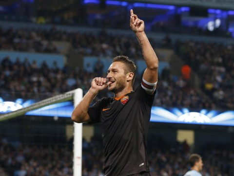 Manchester City shoot themselves in the foot as Roma's Francesco Totti admits tweet riled him to score