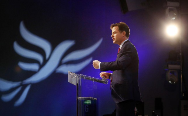 Nick Clegg at the Liberal Democrat conference: He's going down fighting