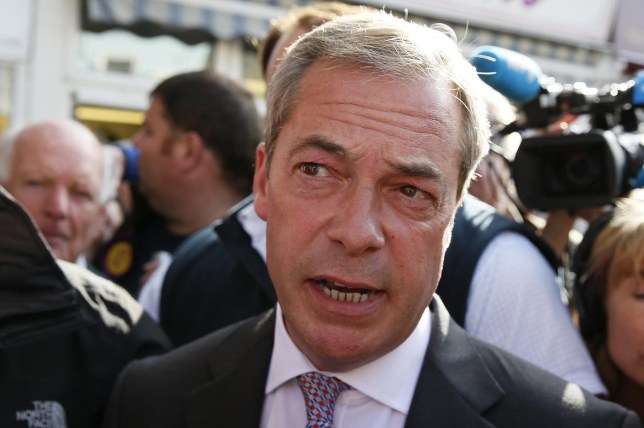 Nigel Farage was told his car wheels were loosened deliberately (Picture: Reuters)