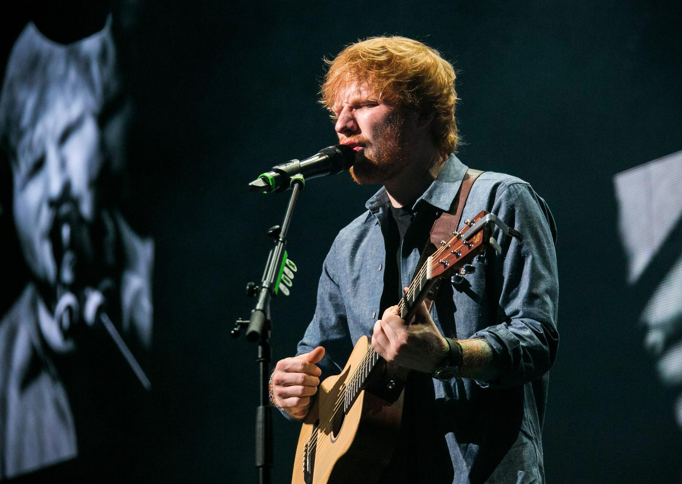Ed Sheeran sticks two fingers up to Natalia Kills and Willy Moon in support of X Factor New Zealand hopeful Joe Irvine