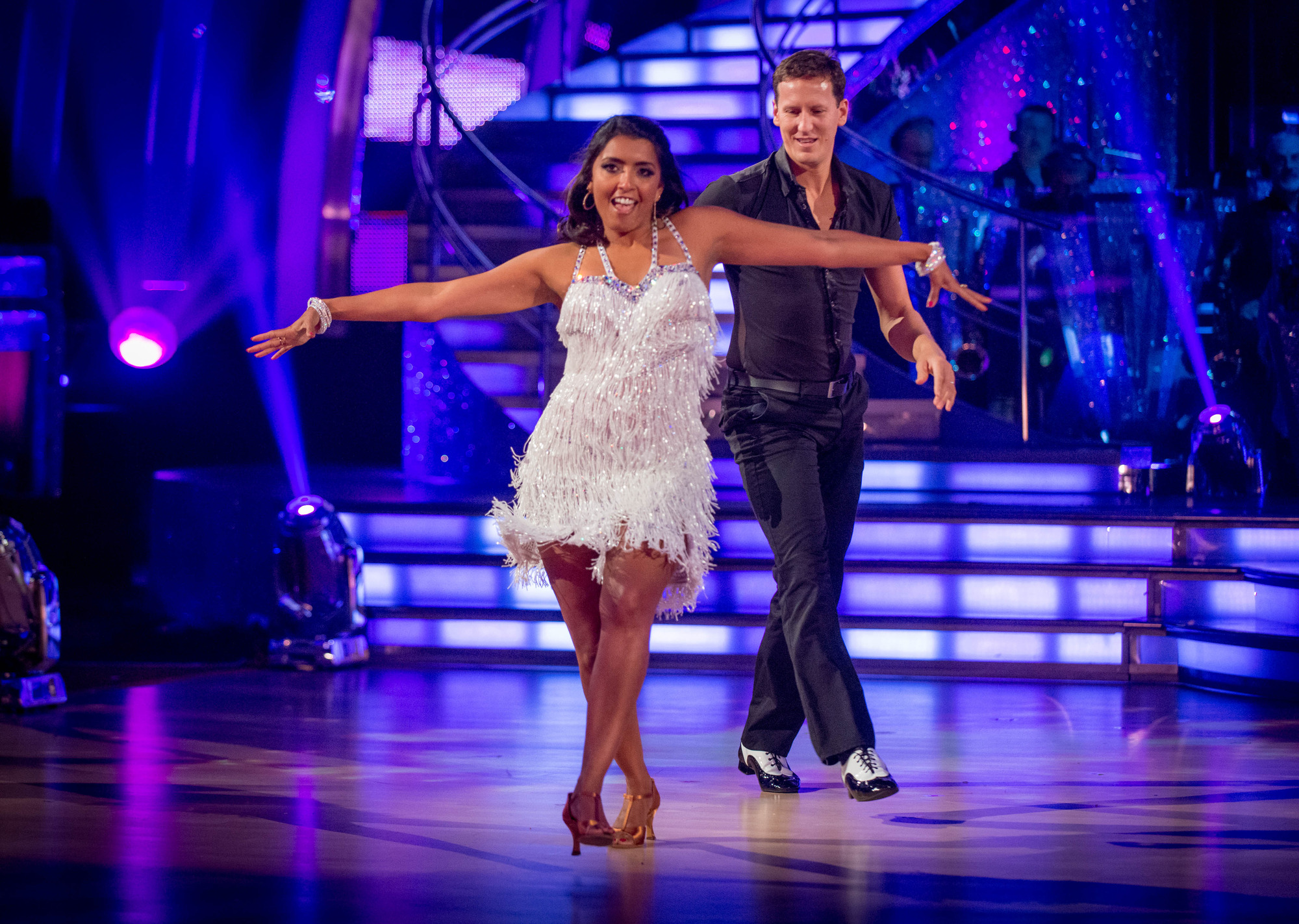 Strictly Come Dancing 2014: Sunetra Sarker's been getting tips from Casualty co-star Patrick Robinson