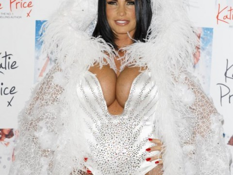 Katie Price goes for the buxom fairy look at book launch