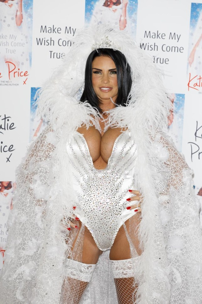 LONDON, ENGLAND - OCTOBER 22: Katie Price attends a photocall to launch her new novel 'Make My Wish Come True' at The Worx on October 22, 2014 in London, England. Tristan Fewings/Getty Images